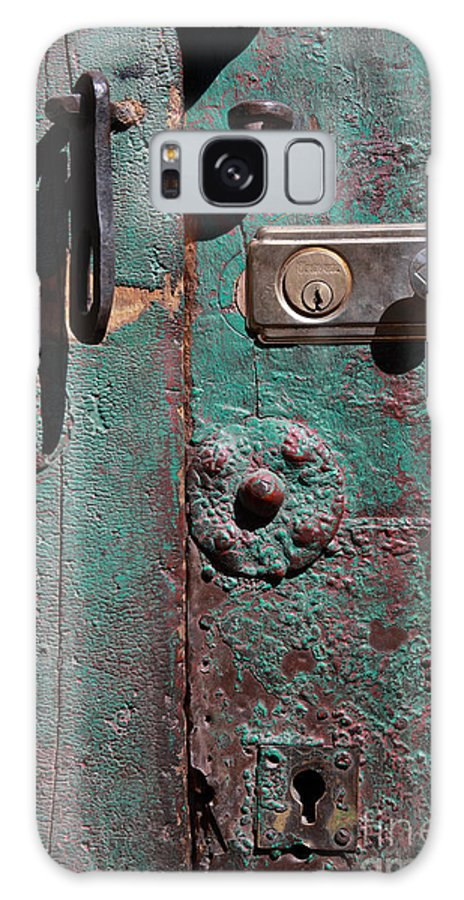Door Galaxy S8 Case featuring the photograph New Lock On Old Door 3 by James Brunker