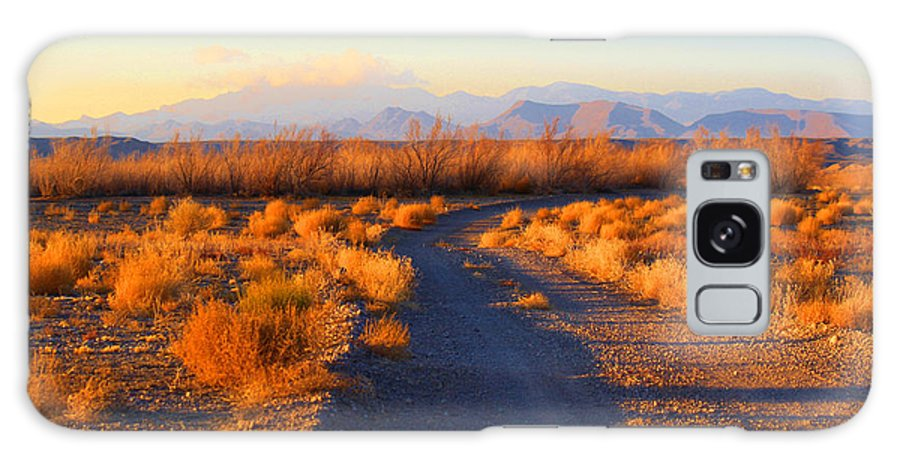 Roena King Galaxy S8 Case featuring the photograph New Mexico Back Country Road by Roena King