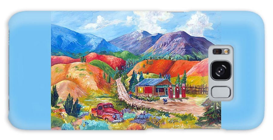 Acrylic Galaxy S8 Case featuring the painting New Mexico Colors by Judy Hopkins