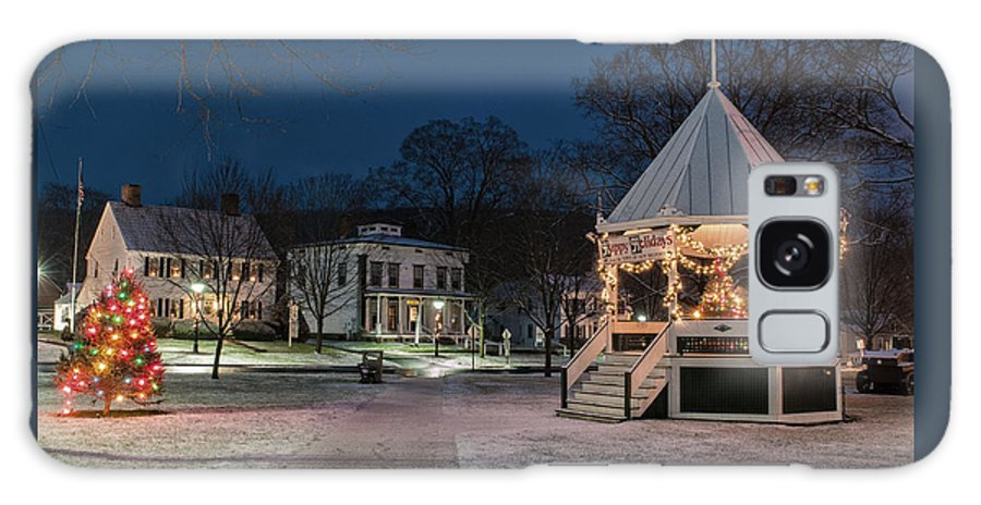 Connecticut Galaxy S8 Case featuring the photograph New Milford Green - Christmas Morning by Expressive Landscapes Fine Art Photography by Thom