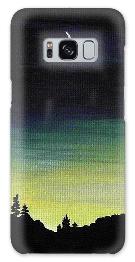 Moon Galaxy S8 Case featuring the painting New Moon by Anastasiya Malakhova