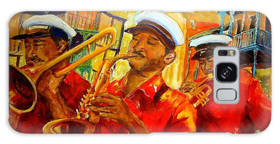 New Orleans Galaxy S8 Case featuring the painting New Orleans Brass Band by Diane Millsap