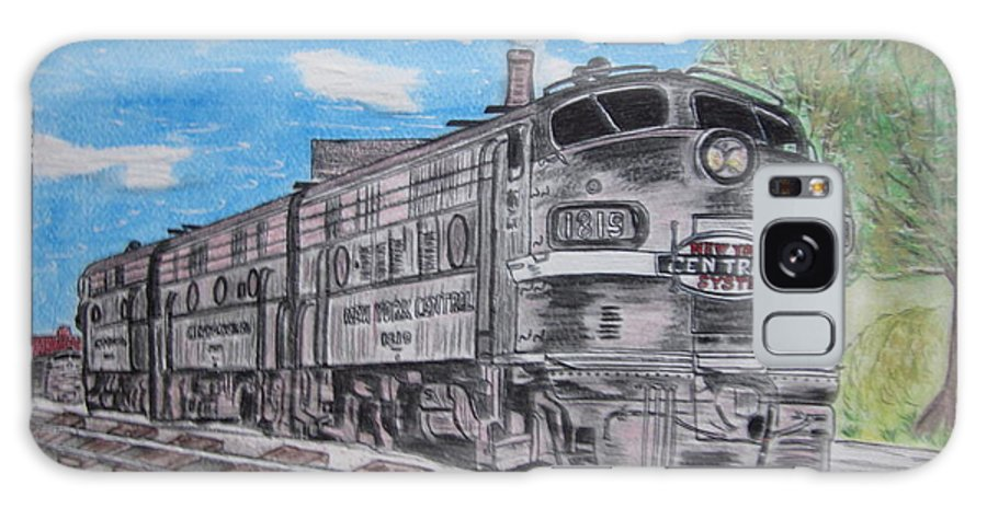 New York Galaxy S8 Case featuring the painting New York Central Train by Kathy Marrs Chandler