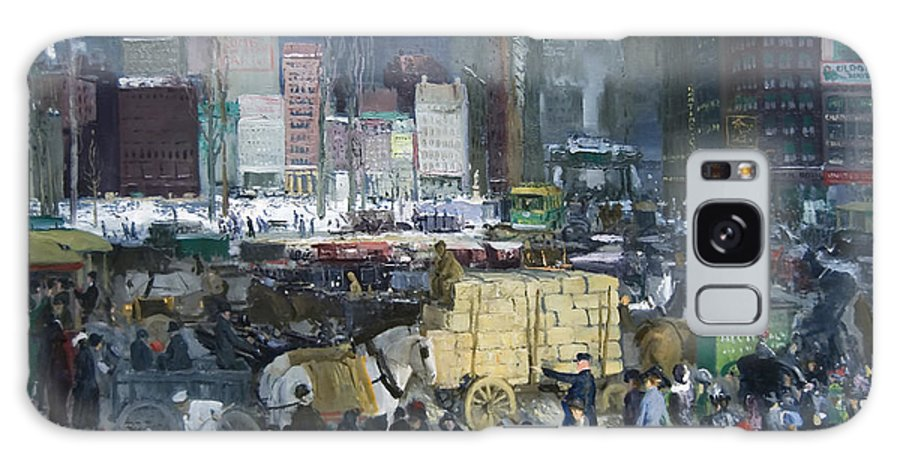 New York City Galaxy S8 Case featuring the painting New York City 1900s by Mountain Dreams