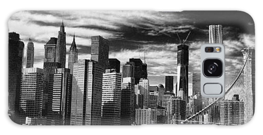 Manhattan Galaxy S8 Case featuring the photograph New York Pano Bw I by Chuck Kuhn