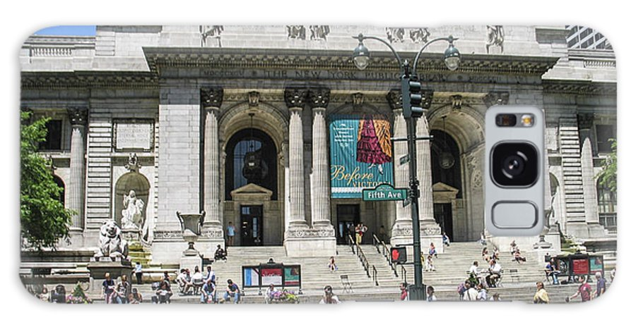 Ny Library Galaxy S8 Case featuring the photograph New York Public Library by Zbigniew Krol