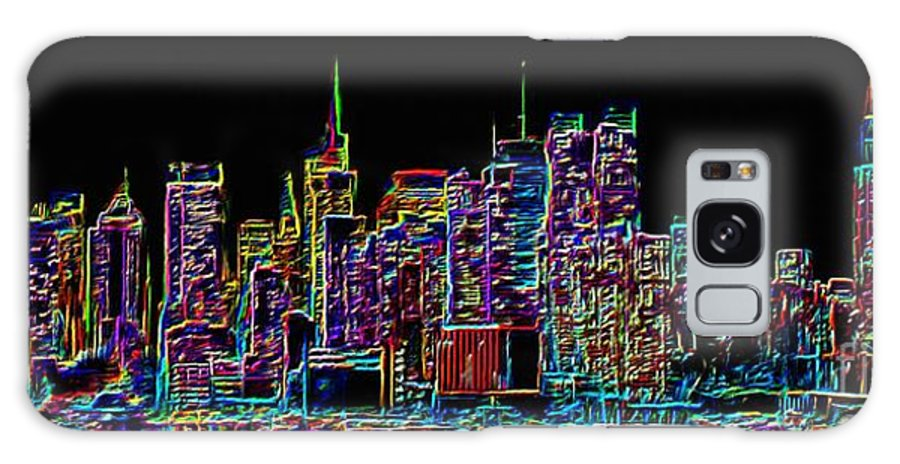 New York Galaxy S8 Case featuring the painting New York by Sergio B