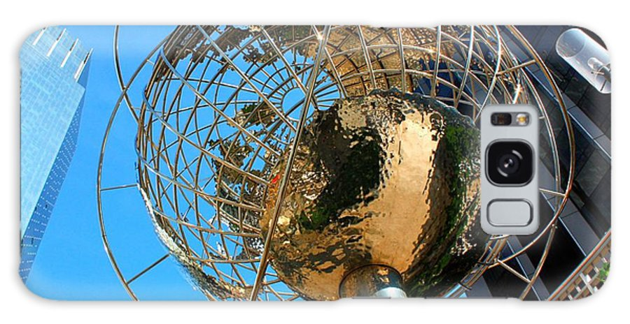 Nyc Galaxy S8 Case featuring the photograph New York Steel Globe by Jenny Hudson