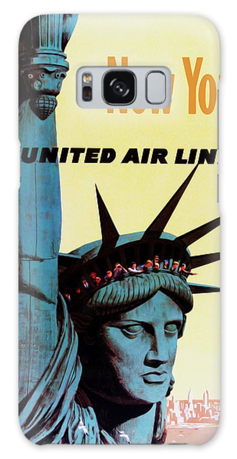 New York Galaxy S8 Case featuring the photograph New York United Airlines by Mark Rogan