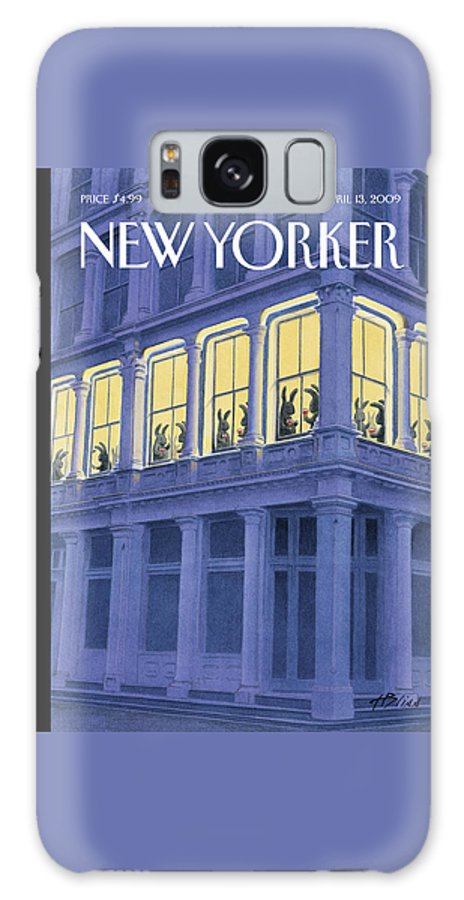 Easter Galaxy S8 Case featuring the painting New Yorker April 13th, 2009 by Harry Bliss