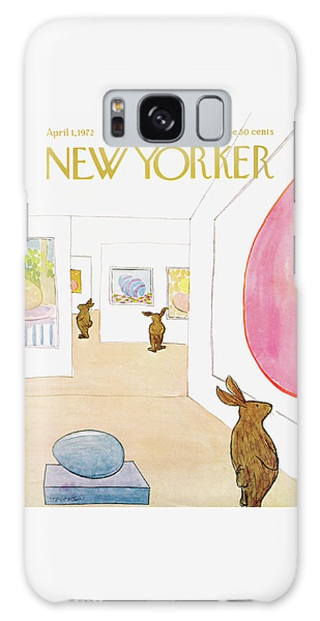 James Stevenson Galaxy S8 Case featuring the painting New Yorker April 1st, 1972 by James Stevenson