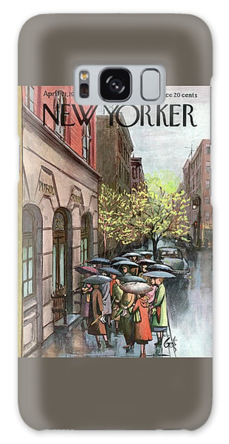 Urban Galaxy S8 Case featuring the painting New Yorker April 21st, 1951 by Arthur Getz