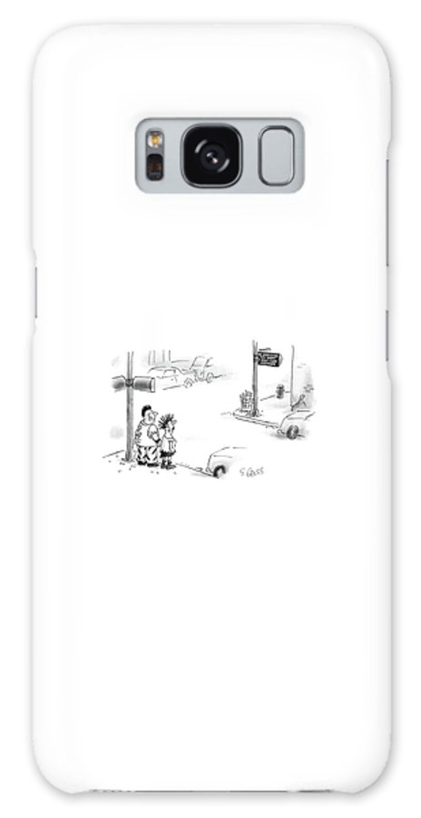 Two Very Punky Galaxy S8 Case featuring the drawing New Yorker August 10th, 1987 by Sam Gross