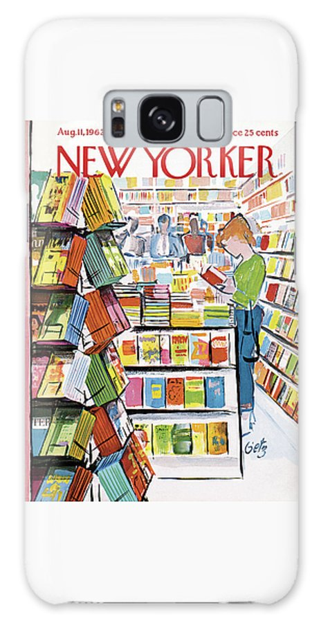 Store Galaxy S8 Case featuring the painting New Yorker August 11th, 1962 by Arthur Getz