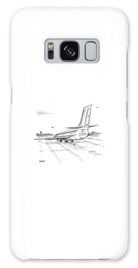 Airplanes Galaxy Case featuring the drawing New Yorker August 23rd, 1999 by Christopher Weyant