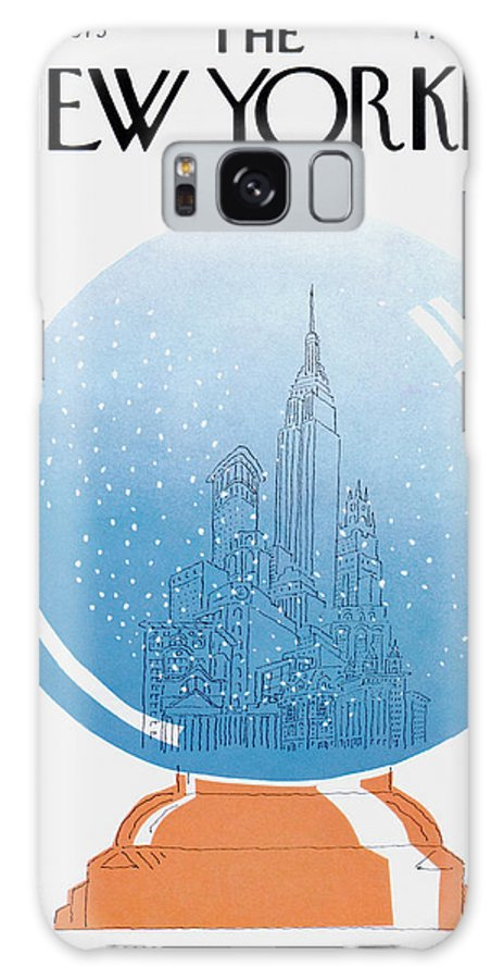 City Galaxy S8 Case featuring the painting New Yorker December 22nd, 1975 by RO Blechman