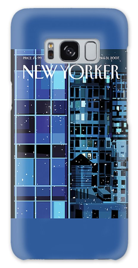 Urban Galaxy S8 Case featuring the painting New Yorker December 24th, 2007 by Kim DeMarco