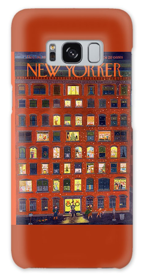 Apartment Galaxy Case featuring the painting New Yorker December 26, 1953 by Ilonka Karasz