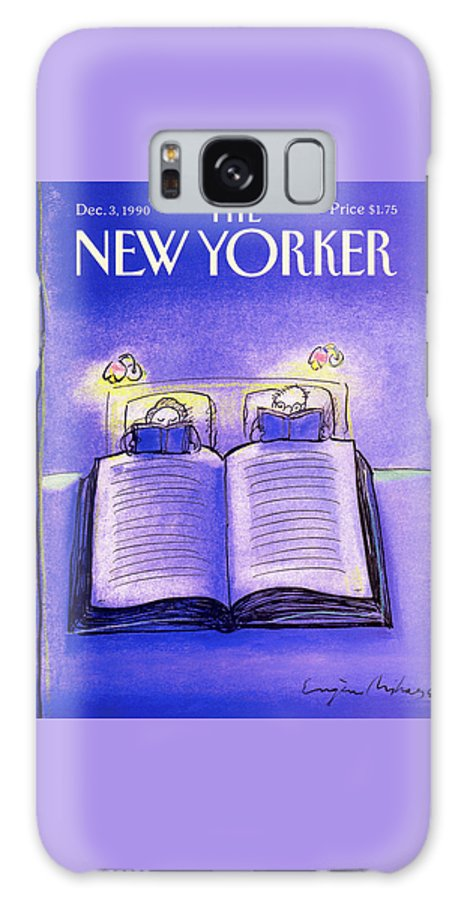 Married Couple Galaxy S8 Case featuring the painting New Yorker December 3rd, 1990 by Eugene Mihaesco