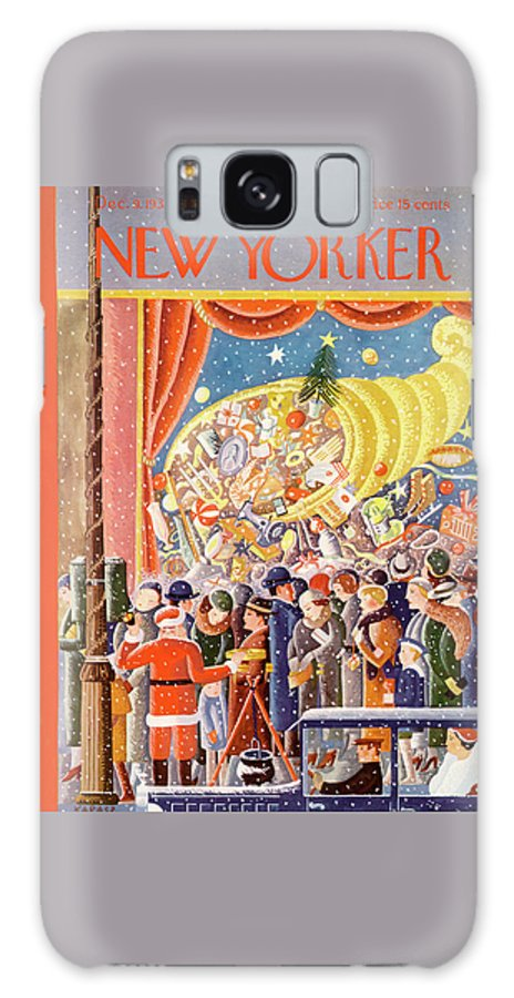 Christmas Galaxy S8 Case featuring the painting New Yorker December 9th, 1933 by Ilonka Karasz