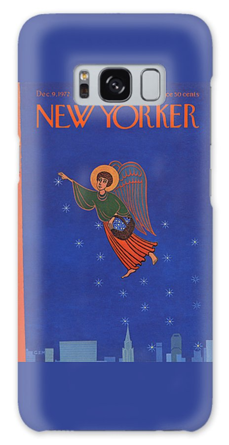 Charles E. Martin Cma Galaxy S8 Case featuring the painting New Yorker December 9th, 1972 by Charles E Martin