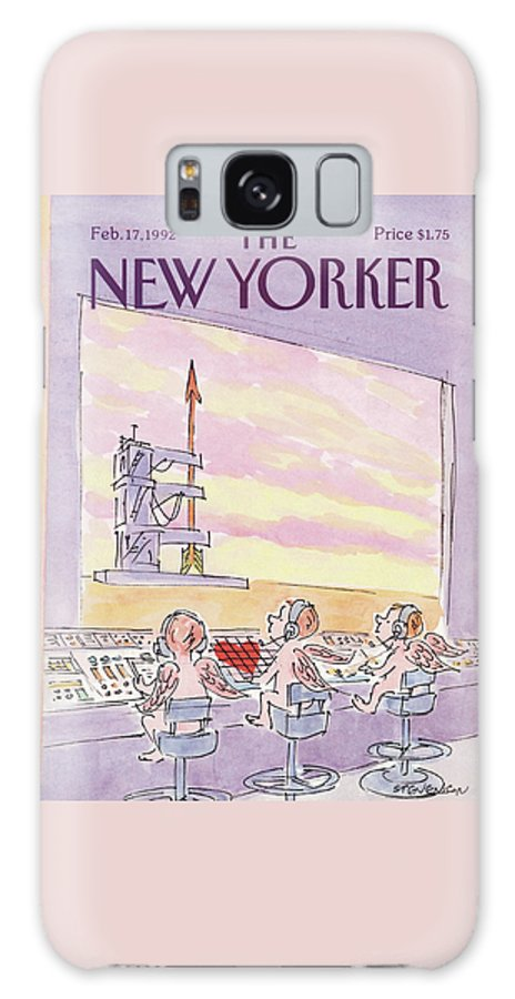 Holiday Galaxy S8 Case featuring the painting New Yorker February 17th, 1992 by James Stevenson