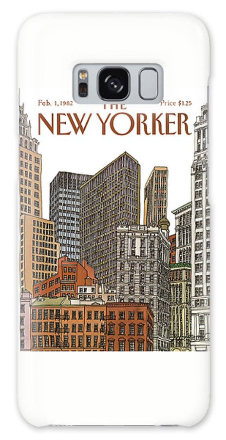 Business Galaxy S8 Case featuring the painting New Yorker February 1st, 1982 by Roxie Munro