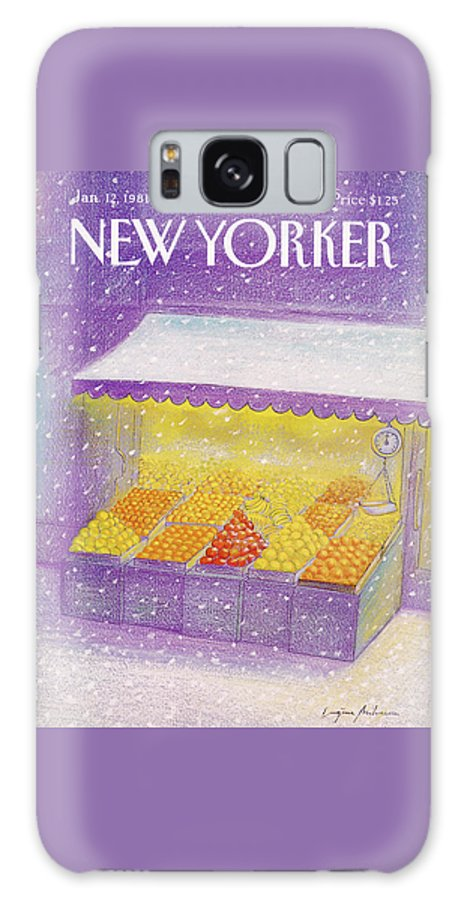 Season Galaxy S8 Case featuring the painting New Yorker January 12th, 1981 by Eugene Mihaesco