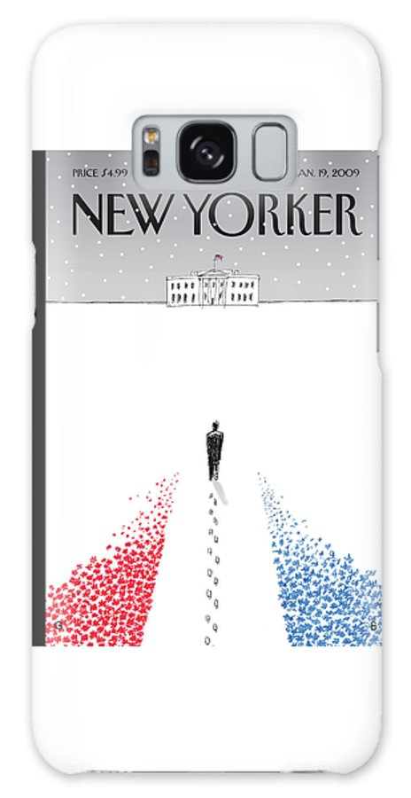 Politics Galaxy S8 Case featuring the painting New Yorker January 19th, 2009 by Guy Billout