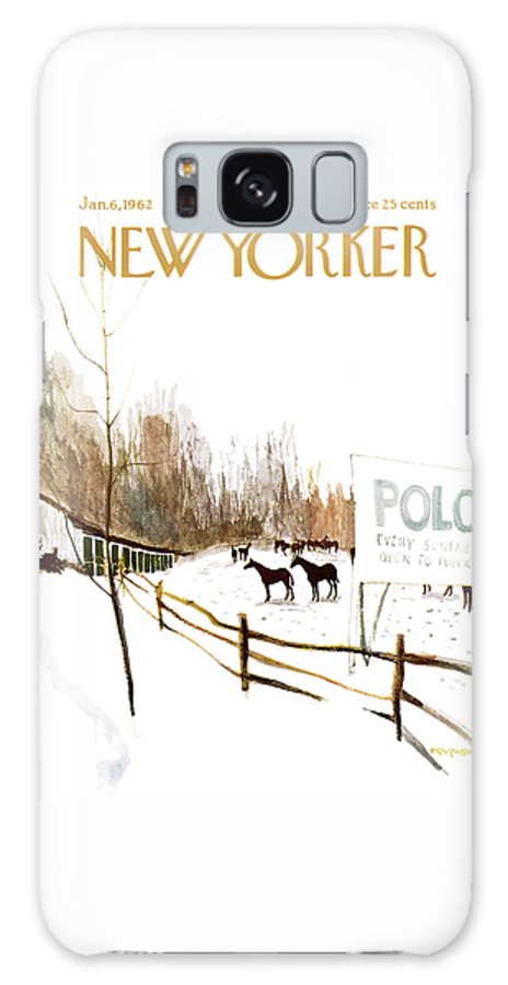 Suburb Galaxy S8 Case featuring the painting New Yorker January 6th, 1962 by James Stevenson