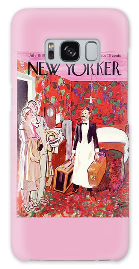 Hotel Galaxy S8 Case featuring the painting New Yorker July 15th, 1933 by Garrett Price