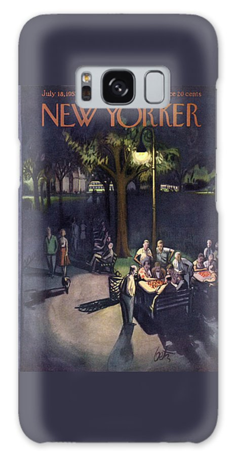 Urban Galaxy S8 Case featuring the painting New Yorker July 18th, 1953 by Arthur Getz
