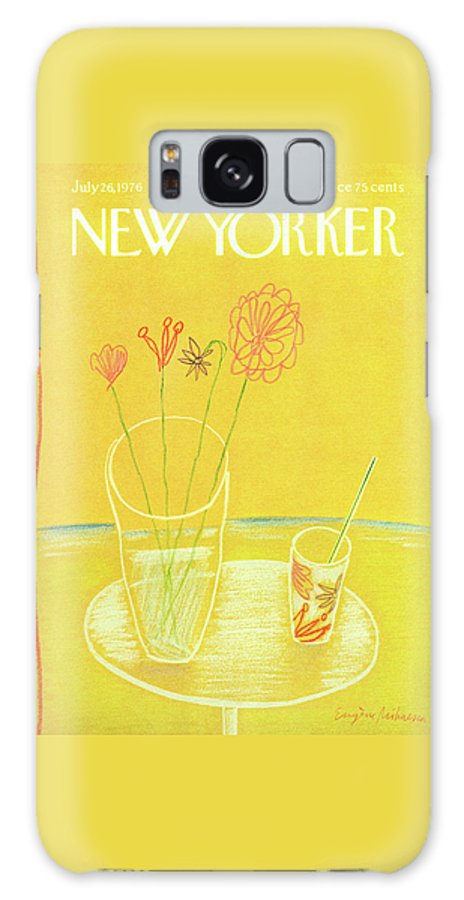 Drink Galaxy S8 Case featuring the painting New Yorker July 26th, 1976 by Eugene Mihaesco