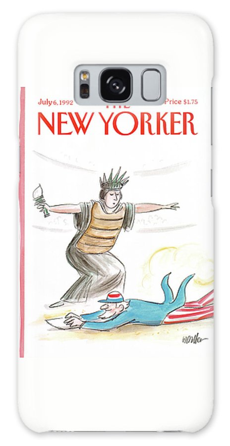 Government Galaxy S8 Case featuring the painting New Yorker July 6th, 1992 by Warren Miller