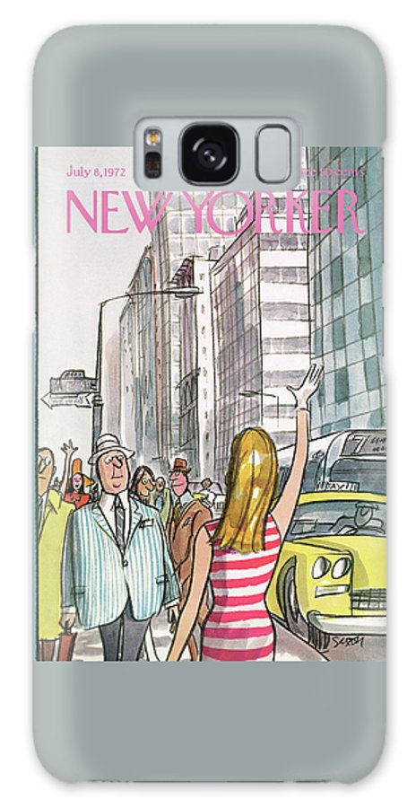 Regional Galaxy S8 Case featuring the painting New Yorker July 8th, 1972 by Charles Saxon