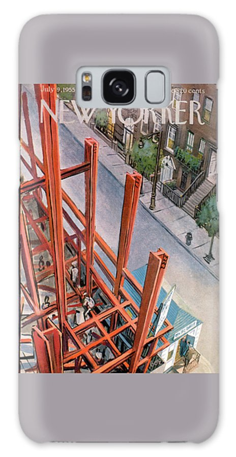 Urban Galaxy S8 Case featuring the painting New Yorker July 9th, 1955 by Arthur Getz