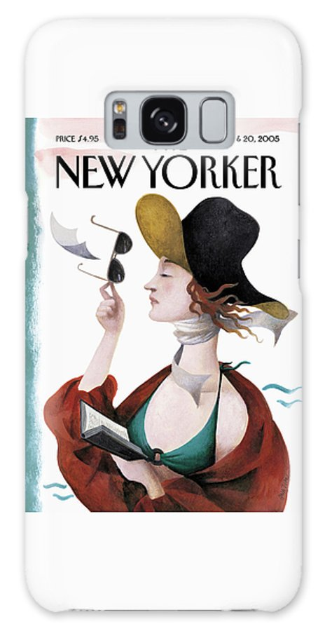 Eustace Tilley Galaxy Case featuring the painting Debut On The Beach by Ana Juan