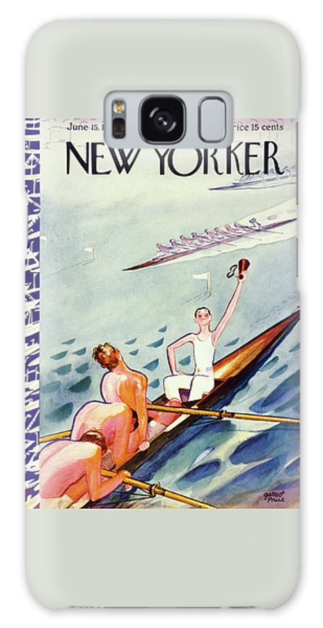Sport Galaxy S8 Case featuring the painting New Yorker June 15 1935 by Garrett Price