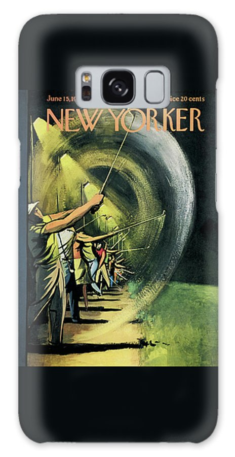 Golf Galaxy Case featuring the painting New Yorker June 15th, 1957 by Arthur Getz