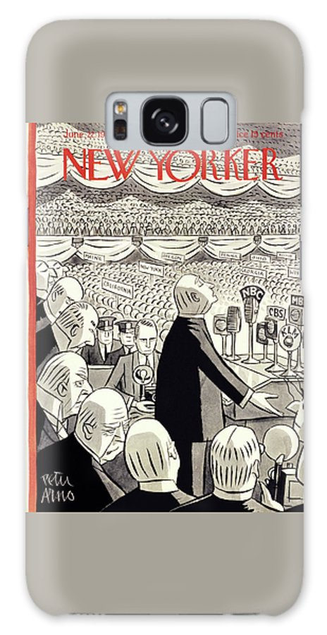 Illustration Galaxy S8 Case featuring the painting New Yorker June 22 1940 by Peter Arno