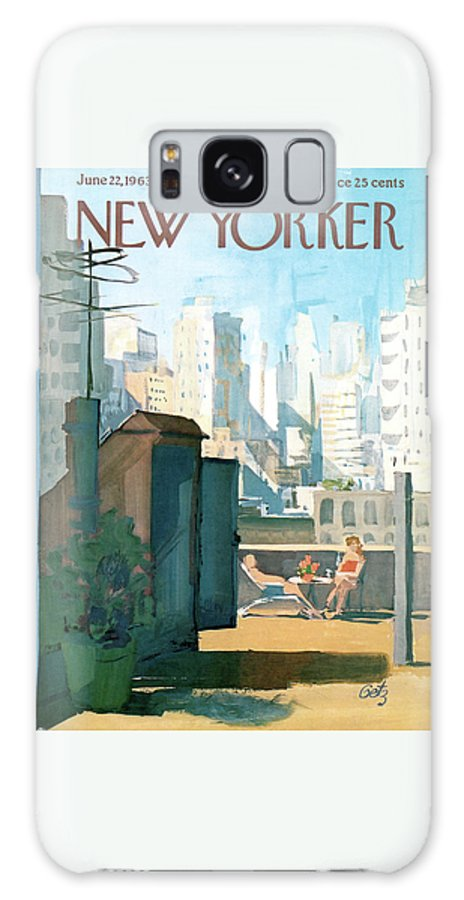 Galaxy S8 Case featuring the painting New Yorker June 22nd, 1963 by Arthur Getz