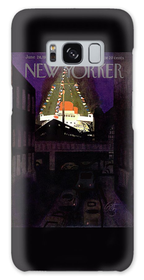 Urban Galaxy S8 Case featuring the painting New Yorker June 28th, 1952 by Arthur Getz