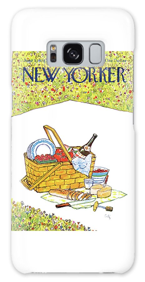 Food Galaxy S8 Case featuring the painting New Yorker June 5th, 1978 by Arthur Getz