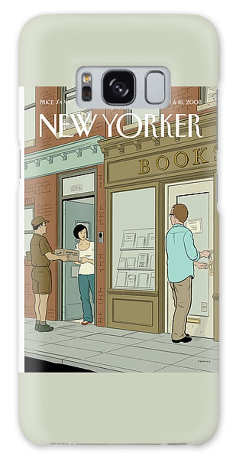Books Galaxy S8 Case featuring the painting New Yorker June 9th, 2008 by Adrian Tomine