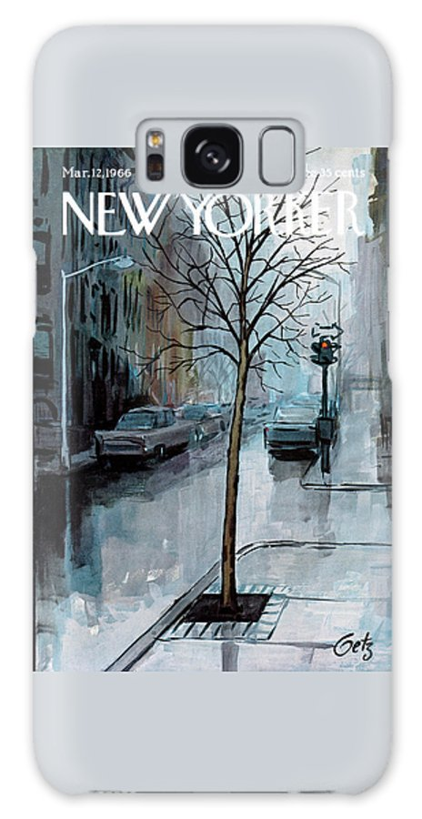 Rain Galaxy Case featuring the painting New Yorker March 12th, 1966 by Arthur Getz