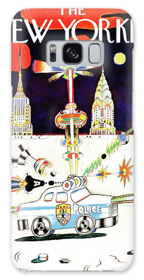 Saul Steinberg 50413 Steinbergattny  Galaxy S8 Case featuring the painting New Yorker March 13th, 1978 by Saul Steinberg