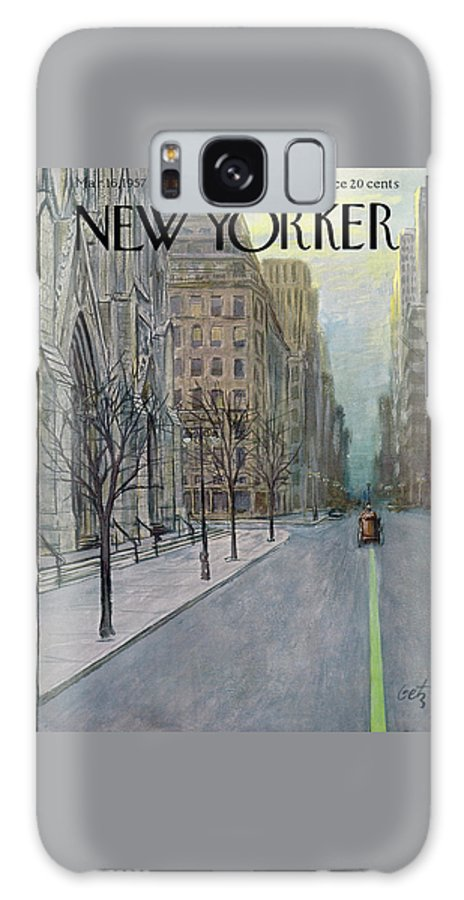 Urban Galaxy S8 Case featuring the painting New Yorker March 16th, 1957 by Arthur Getz