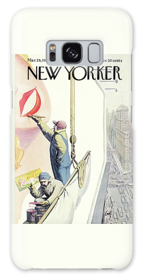 Advertising Galaxy S8 Case featuring the painting New Yorker March 29th, 1952 by Arthur Getz