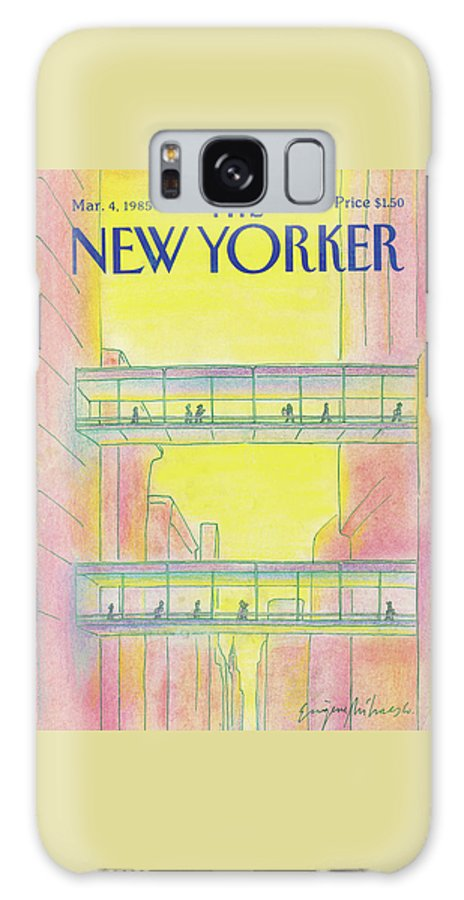 Manhattan Galaxy S8 Case featuring the painting New Yorker March 4th, 1985 by Eugene Mihaesco