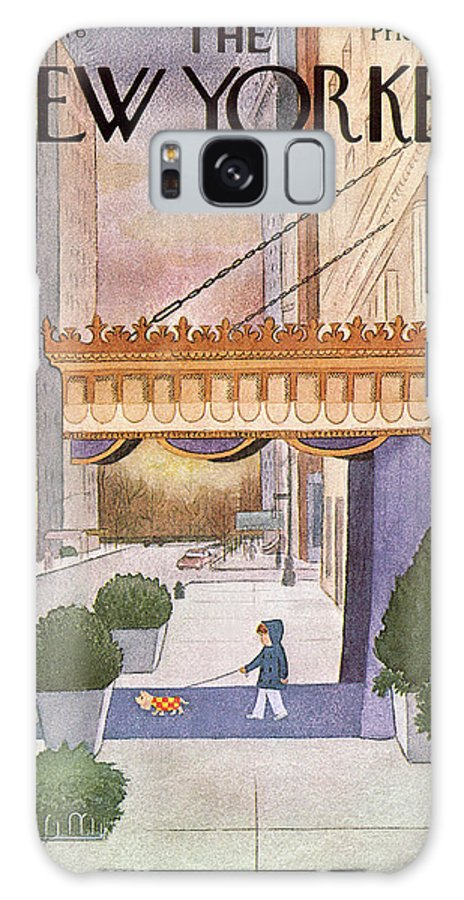 Upper East Side Galaxy S8 Case featuring the painting New Yorker March 8th, 1976 by Charles E Martin